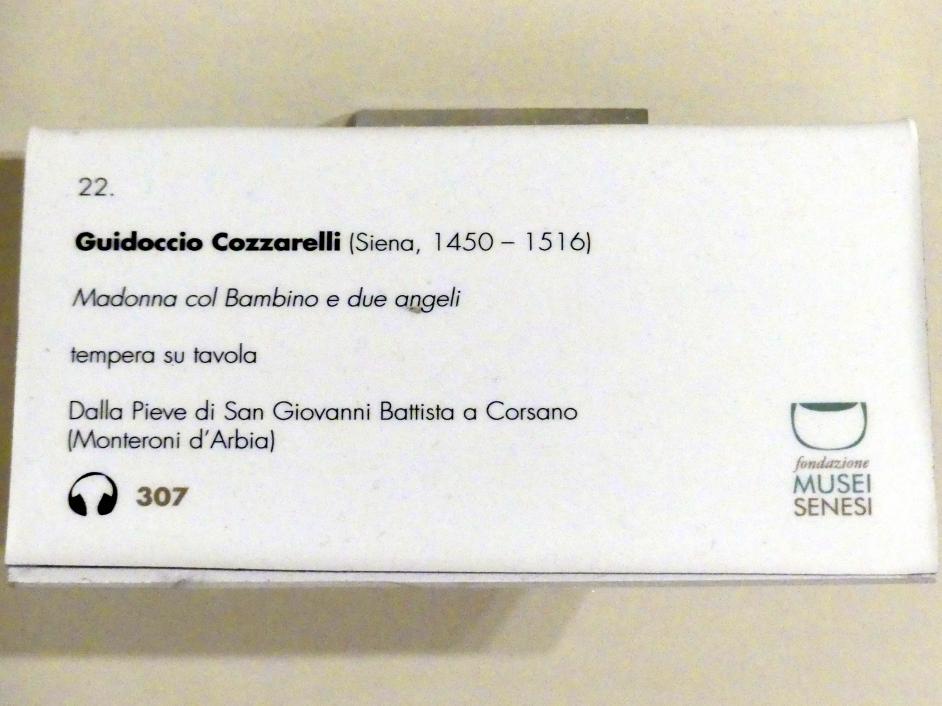Guidoccio Cozzarelli: Maria mit Kind und zwei Engeln, Undatiert, Bild 2/2
