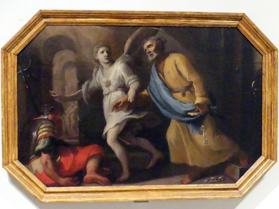 Bernardino Mei: Befreiung des Apostels Petrus aus dem Gefängnis, Mitte 17. Jhd.