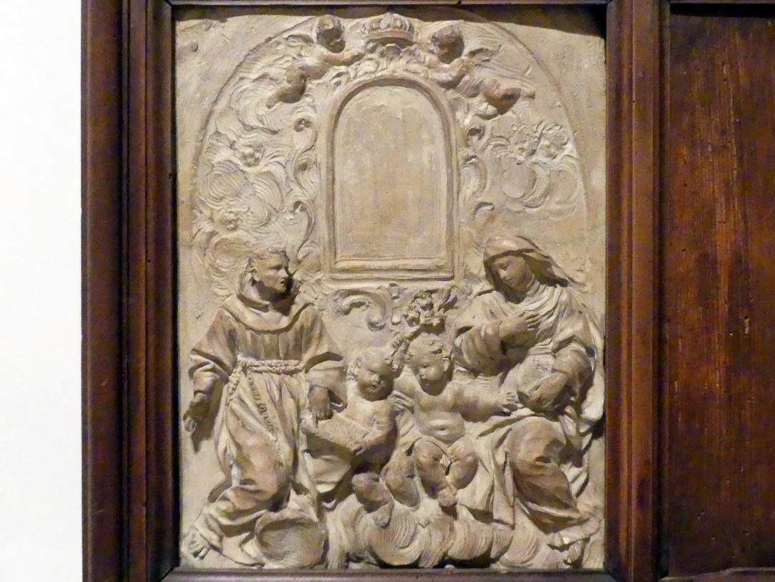 Giovanni Antonio Mazzuoli: Hll. Bernhardin und Katharina von Siena in Anbetung, Beginn 17. Jhd.
