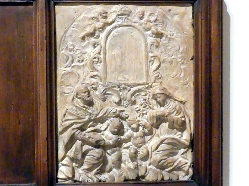 Giovanni Antonio Mazzuoli: Heiliger Bischof und die Heilige Katharina von Siena in Anbetung, Beginn 17. Jhd.