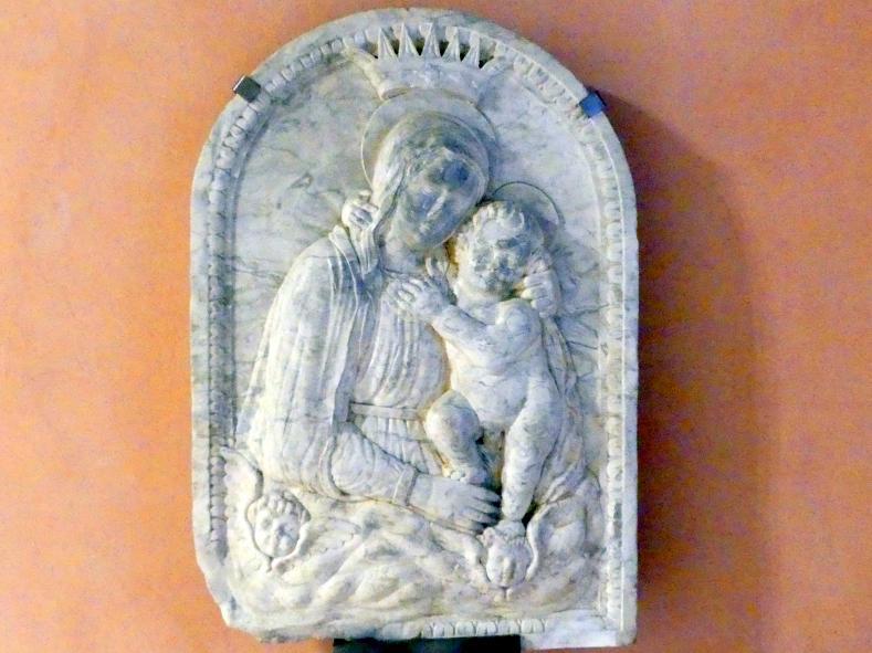 Urbano da Cortona: Maria mit Kind und Cherubin, 2. Hälfte 15. Jhd.