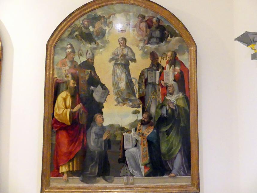 Bartolomeo di David: Immaculata, Prophet Salomo, Jesaja, Ezechiel, König Daniel und Kirchenväter, Heilige und Engel, 1. Hälfte 16. Jhd.