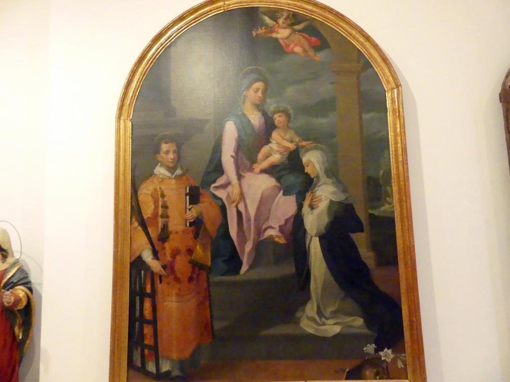 Francesco Vanni: Maria mit Kind und den hll. Laurentius und Katharina von Siena, 1598