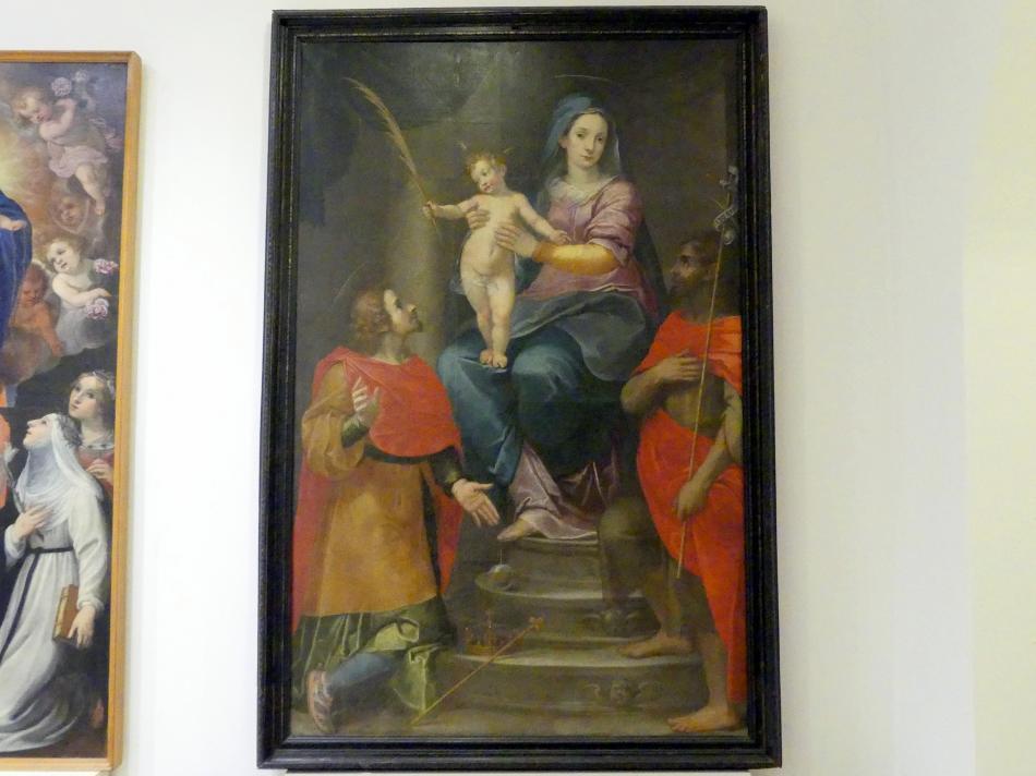 Francesco Bartalini: Thronende Madonna mit Kind und den hll. Sigismund und Johannes der Täufer, 1604