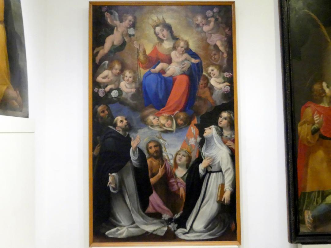 Astolfo Petrazzi: Rosenkranzmadonna mit Beato Franco da Grotti und den hll. Dominikus, Johannes der Täufer, Ursula, Katherina von Siena und Lucia, Undatiert