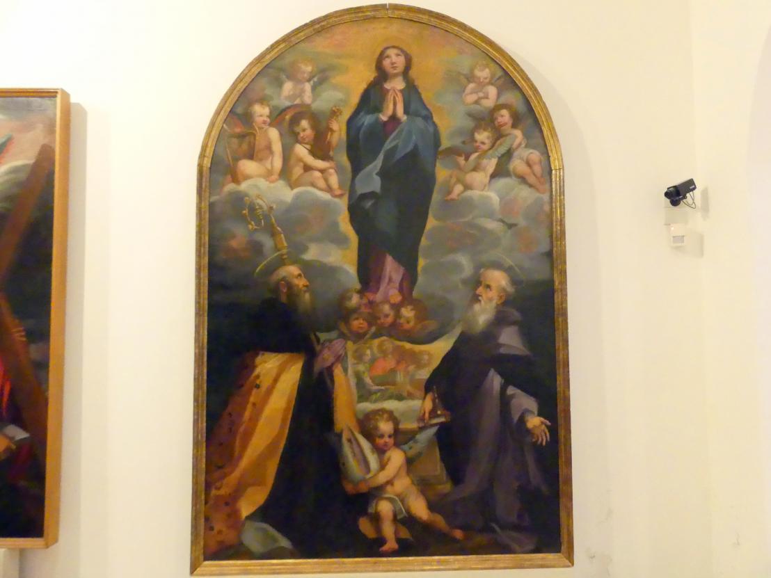 Mariä Himmelfahrt mit dem hl. Antonius Abbas und einem heiligen Bischof, Beginn 17. Jhd.