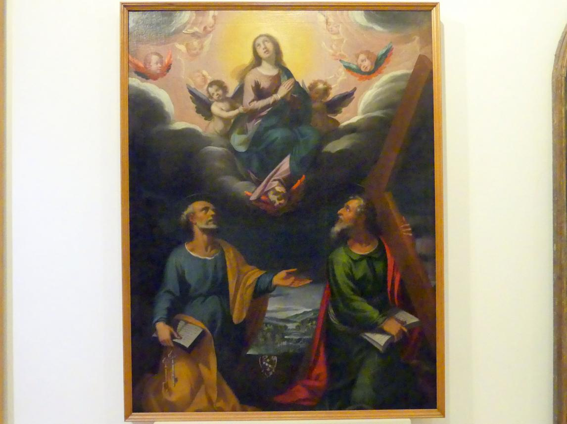 Pietro Sorri: Mariä Himmelfahrt mit den Aposteln Petrus und Andreas, 1605