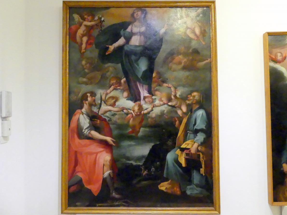 Rutilio Manetti: Mariä Himmelfahrt mit den hll. Petrus und Alban, 1608