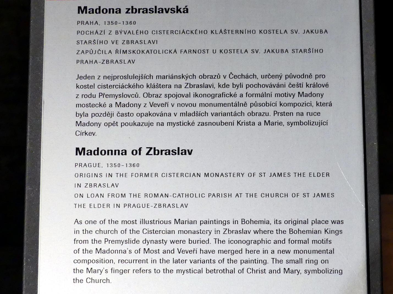 Madonna von Zbraslav, 1350 - 1360, Bild 2/2