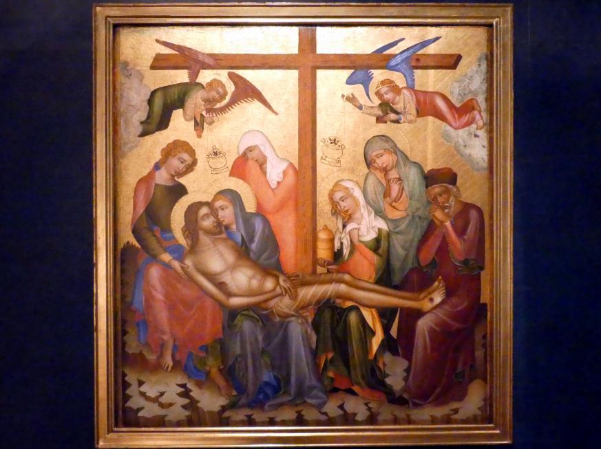 Meister von Hohenfurth: Beweinung Christi, um 1350, Bild 1/2
