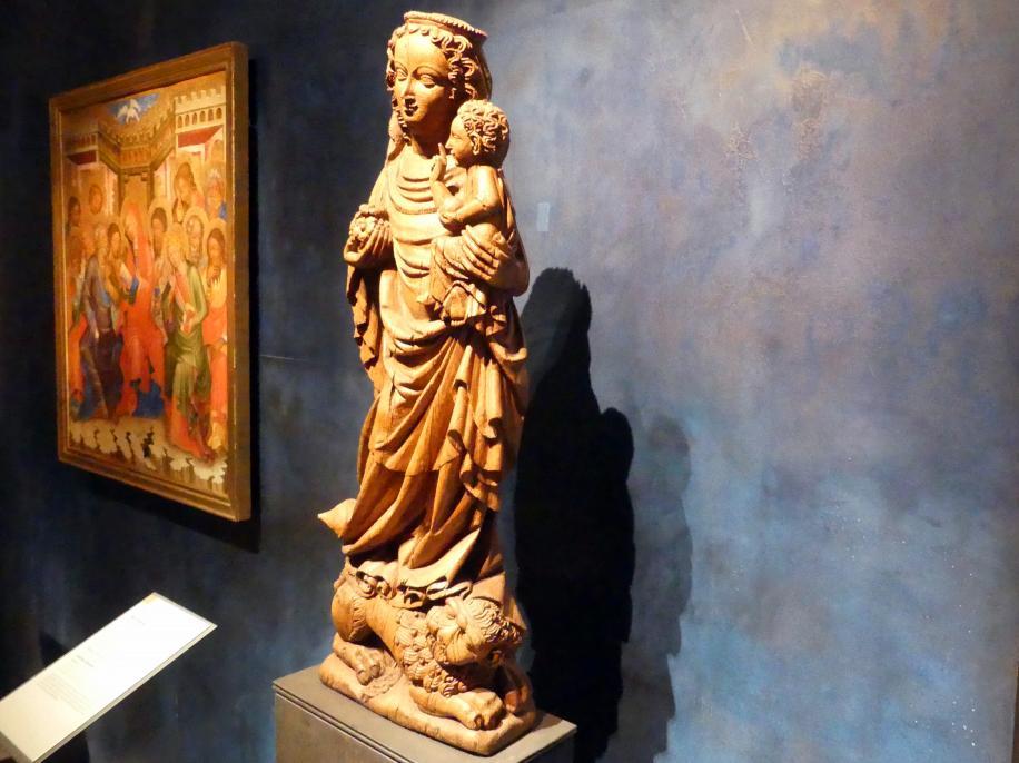 Meister der Madonna von Michle (Werkstatt): Madonna auf dem Löwen, 1340 - 1350, Bild 2/12