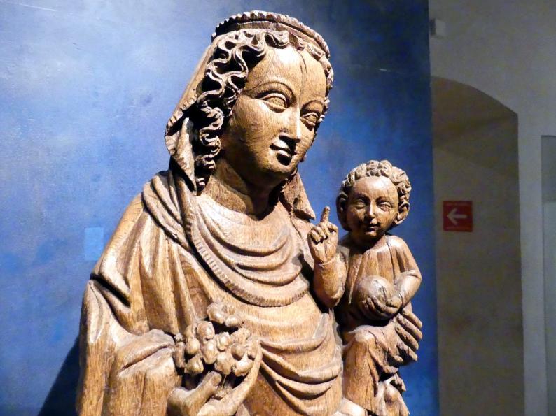 Meister der Madonna von Michle (Werkstatt): Madonna auf dem Löwen, 1340 - 1350, Bild 7/12