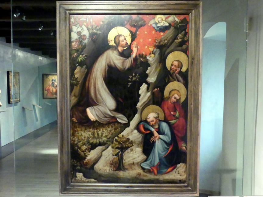 Meister von Wittingau: Christus im Ölberg, Heilige Katherina, Maria Magdalena und Margarete, um 1380 - 1385