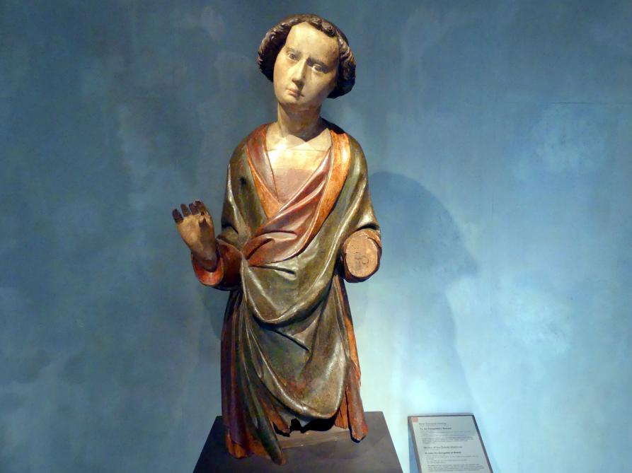 Meister der Žebrák-Madonna: Evangelist Johannes von Třeboň, um 1380 - 1390