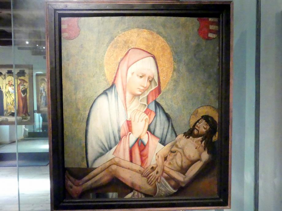 Meister von Wittingau: Schmerzhafte Muttergottes, Heiliger Christopherus, um 1390 - 1395