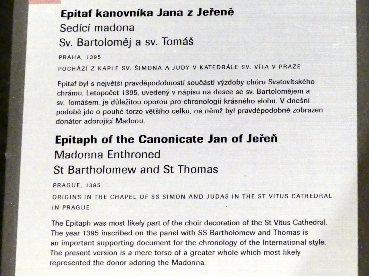 Epitaph des Kanonikers Jan von Jeřeň, 1395