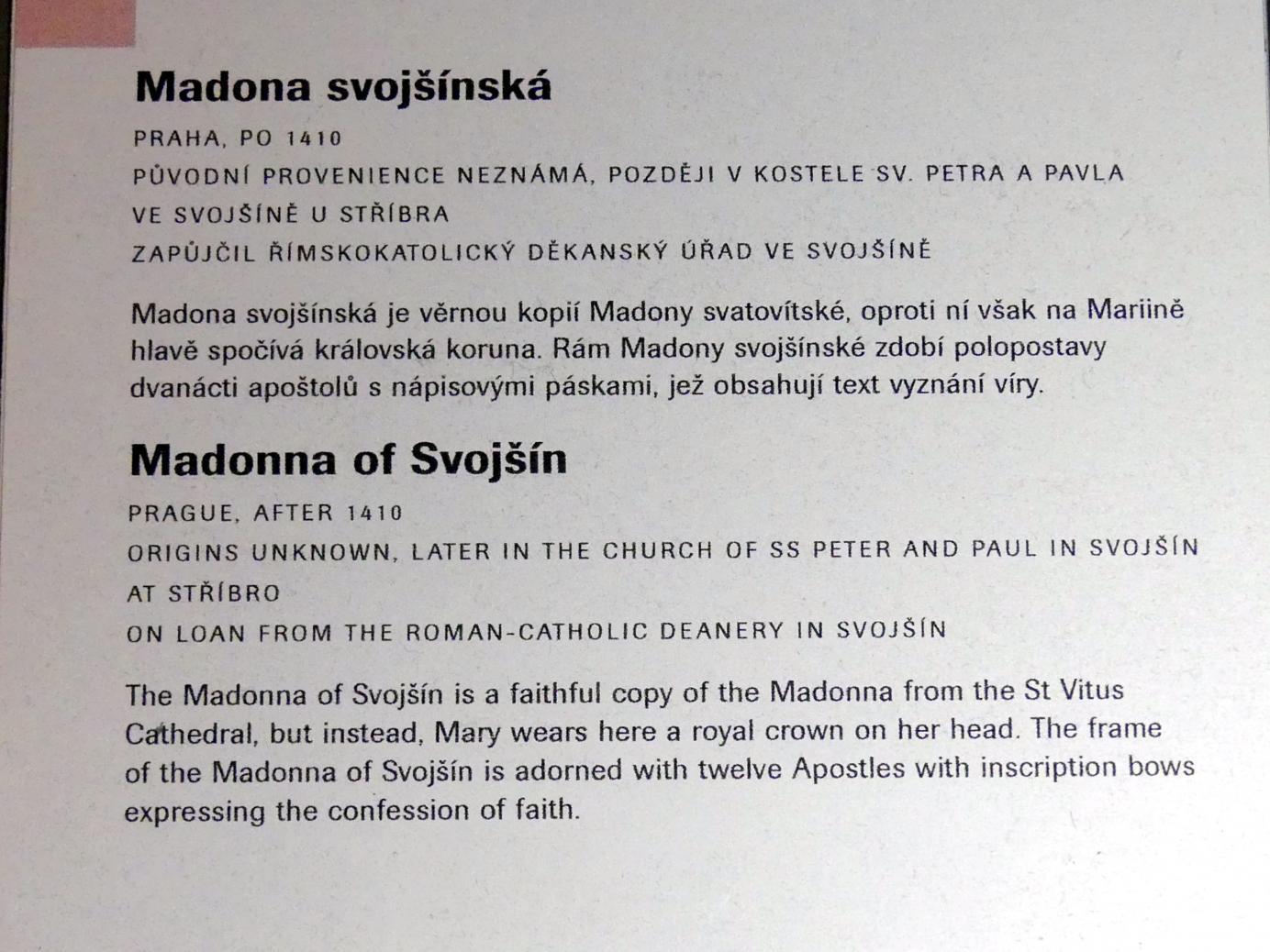 Madonna von Svojšín, nach 1410, Bild 2/2