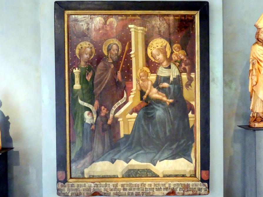 Meister der St. Lambrechter Votivtafel: Epitaph des Goldschmieds Sigismund Waloch, 1434