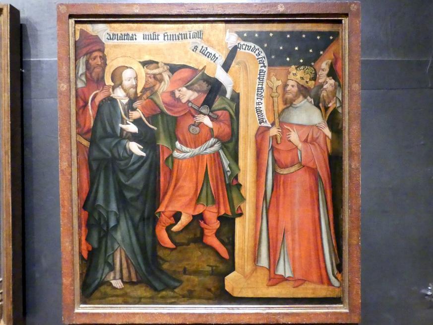 Meister von Raigern (Meister des Raigerner Altars) (Werkstatt): Jakobaltar: Apostel Jakob wird gefangen genommen, um 1430