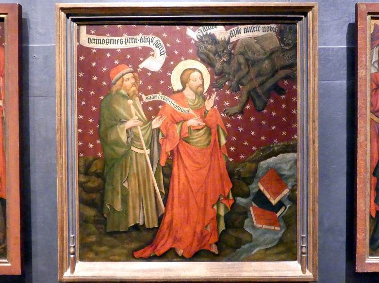 Meister von Raigern (Meister des Raigerner Altars) (Werkstatt): Jakobaltar: Hermogenes bekommt ein Zeichen, um 1430