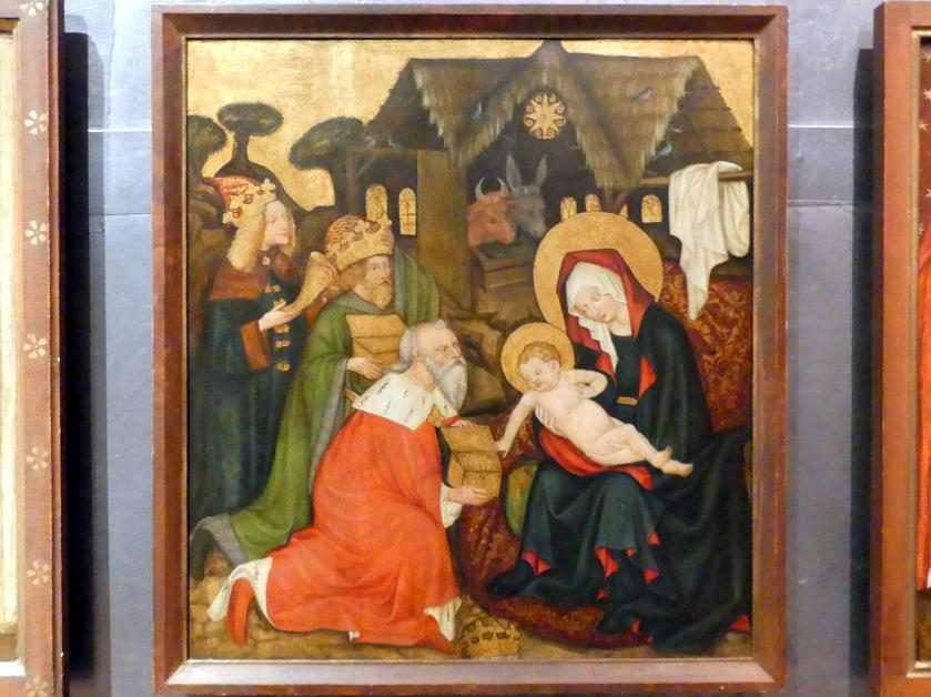 Meister von Raigern (Meister des Raigerner Altars) (Werkstatt): Jakobaltar: Anbetung der Könige, Um 1430