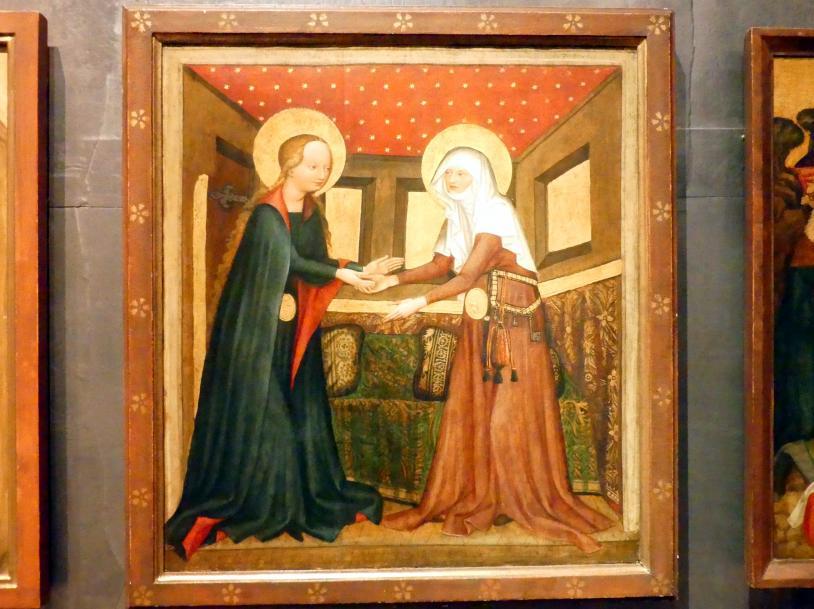 Meister von Raigern (Meister des Raigerner Altars) (Werkstatt): Mariä Heimsuchung, Um 1430