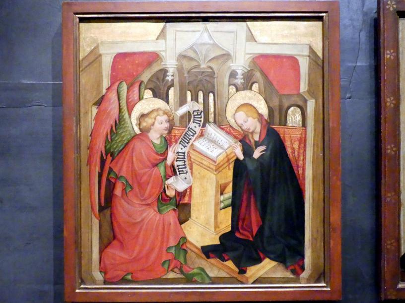 Meister von Raigern (Meister des Raigerner Altars) (Werkstatt): Mariä Verkündigung, Um 1430