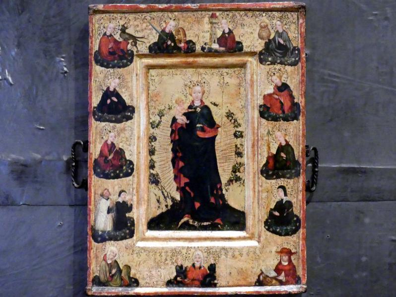 Maria mit Kind im Blumengarten, um 1450
