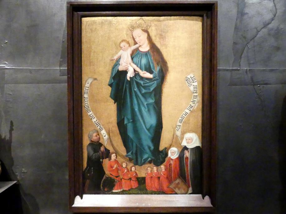Hans Pleydenwurff: Epitaph mit der Jungfrau Maria und Stiftern, um 1470