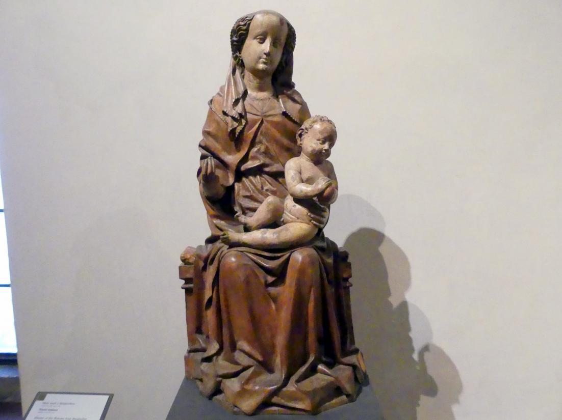 Meister von Berghofen: Thronende Madonna mit Kind, um 1440