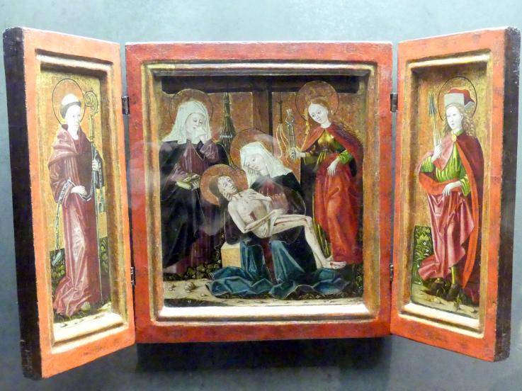 Altarbild mit Pietá und den hll. Ottilie und Apollonia, um 1480