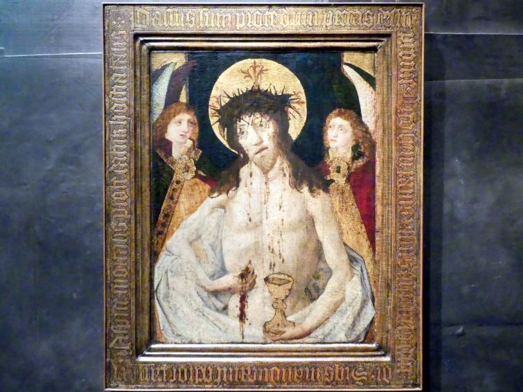 Schmerzensmann zwischen zwei Engeln, Um 1470