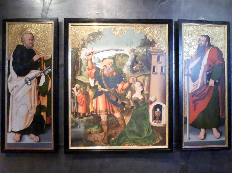 Monogrammist I.W.: St.-Barbara-Altar von Osegg, Um 1540