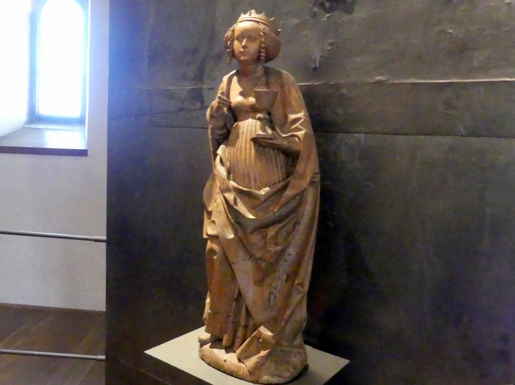 Meister der Teyner Verkündigung: Heilige Barbara, um 1515, Bild 2/5