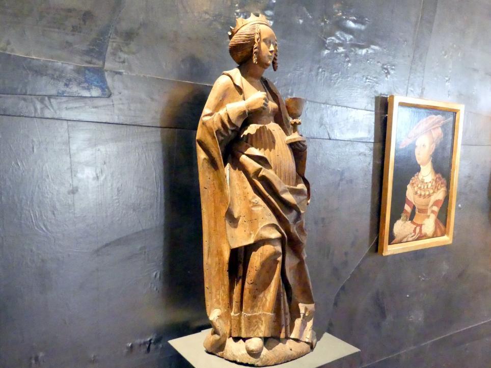 Meister der Teyner Verkündigung: Heilige Barbara, um 1515, Bild 3/5