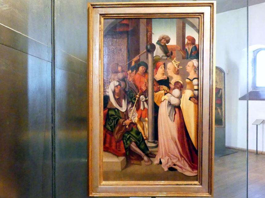 Meister des Leitmeritzer Altars: Heilige Katharina vor Kaiser Maxentius, um 1515