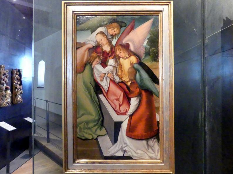 Meister des Leitmeritzer Altars: Begräbnis der Heiligen Katharina, um 1515