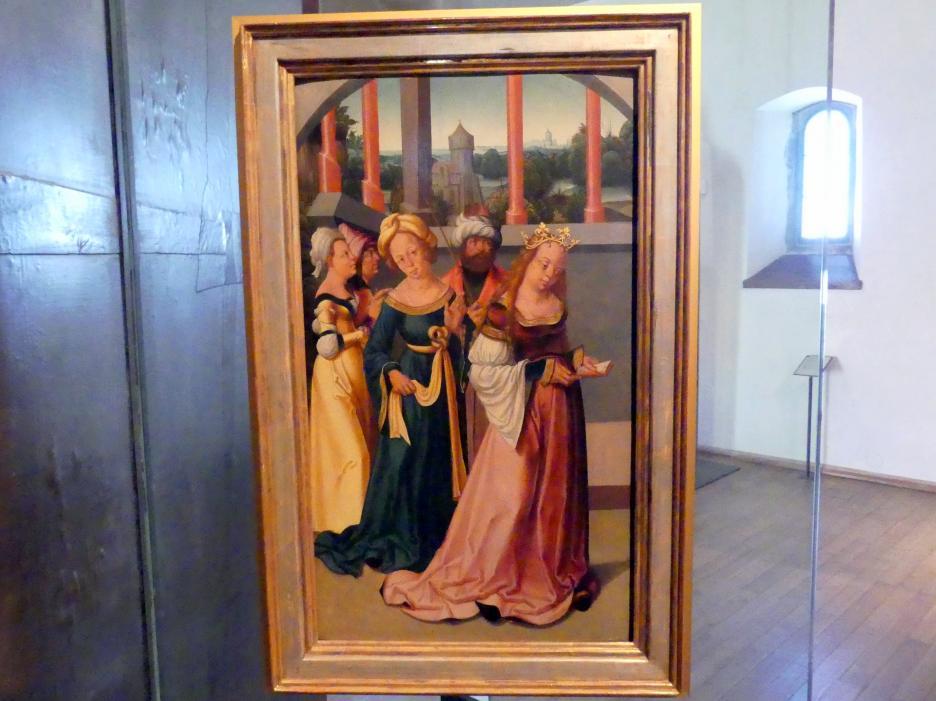 Meister des Leitmeritzer Altars: Lesende Heilige Katharina, um 1515