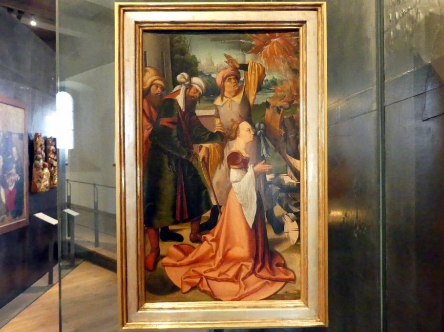 Meister des Leitmeritzer Altars: Martyrium der Heiligen Katharina, um 1515, Bild 1/2