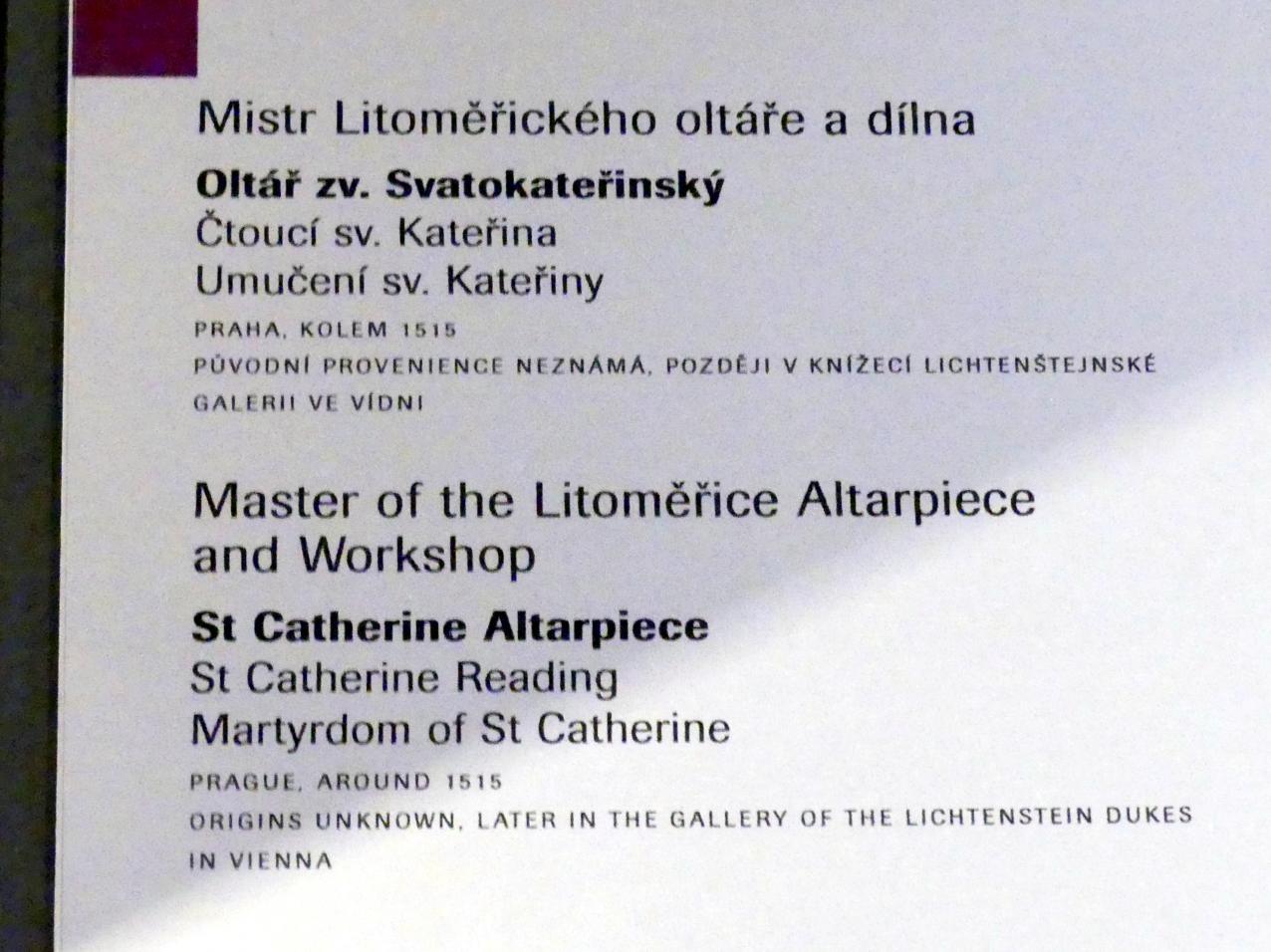 Meister des Leitmeritzer Altars: Martyrium der Heiligen Katharina, Um 1515