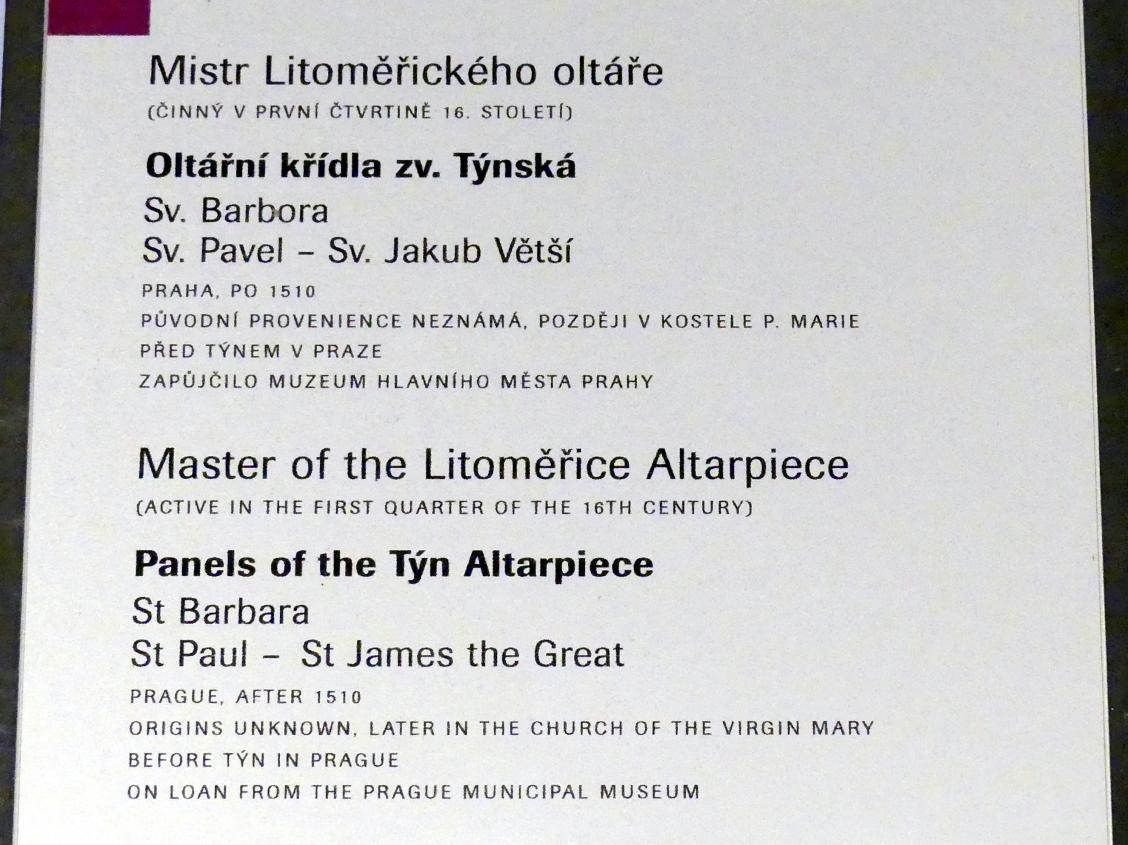 Meister des Leitmeritzer Altars: Tafeln des Teyner Altares, nach 1510, Bild 4/4