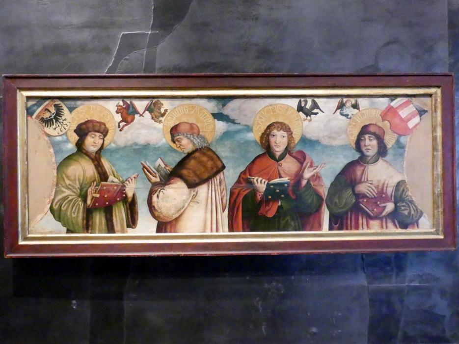 Hans Hesse: Predella mit Abbildungen der vier Evangelisten, sog. Švihovský-Predella, um 1530