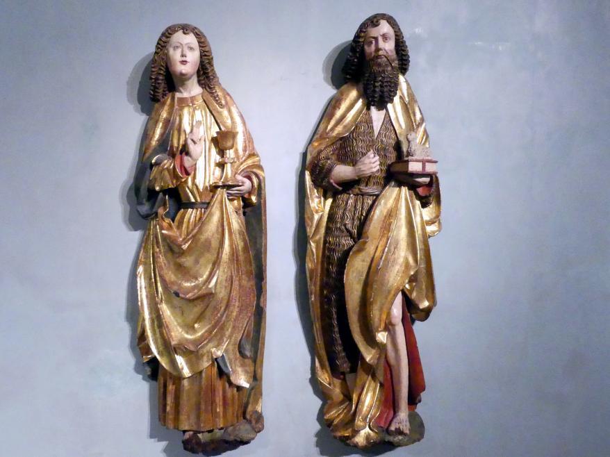 Meister der Beweinung von Bettlern (Werkstatt): Evangelist Johannes und Johannes der Täufer, um 1520