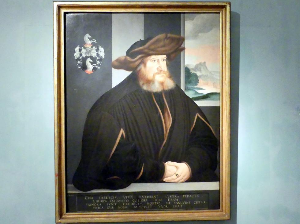 Portrait von Johann Gerlach im Alter von 65 Jahren, 1537