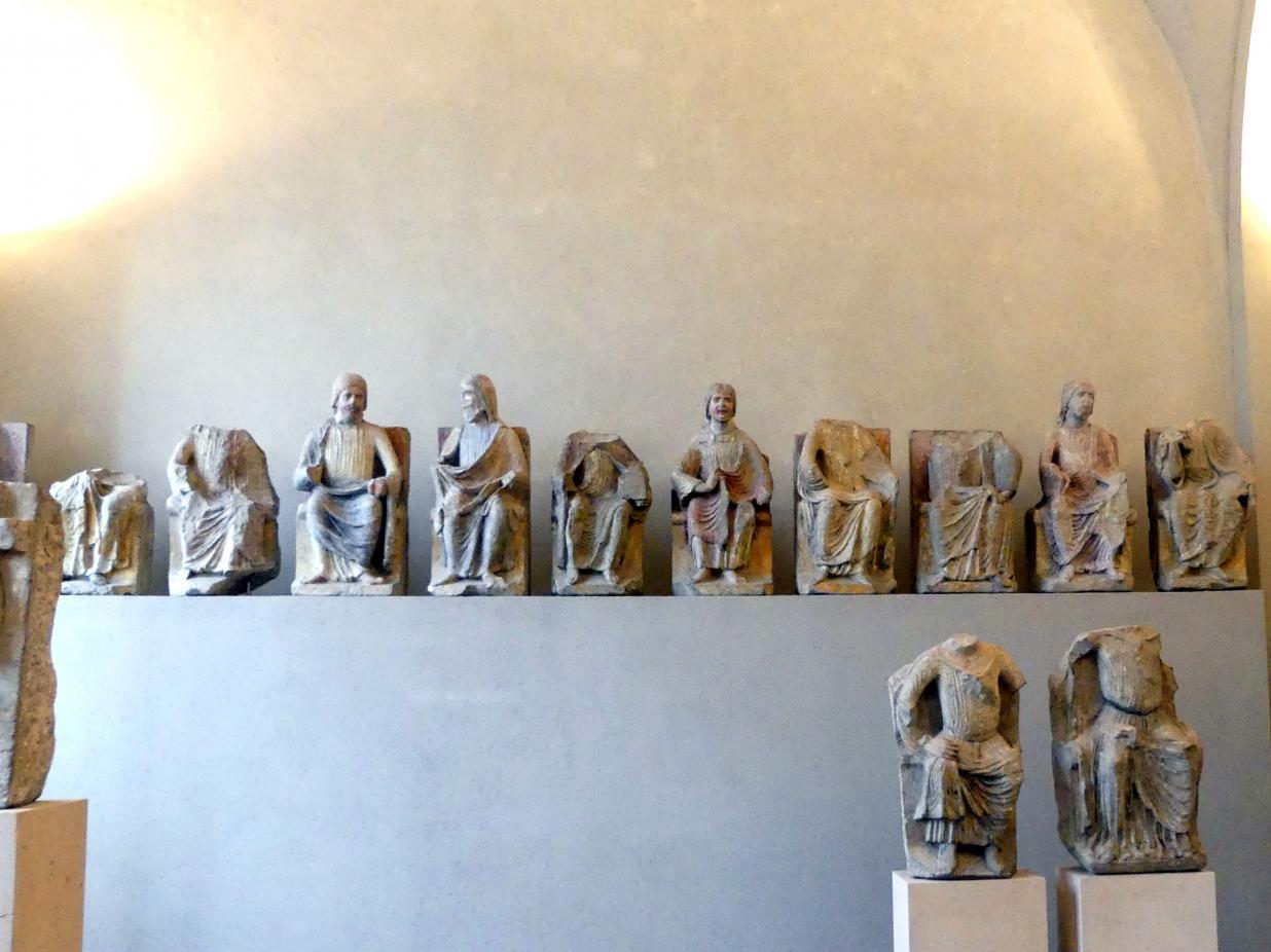 Thronender Christus und Apostel, Um 1250