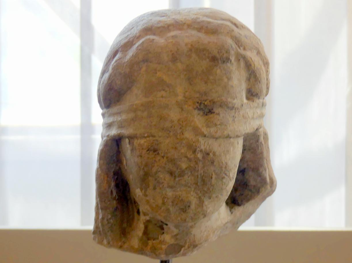 Kopf eines Engels, der weitere Leidenswerkzeuge trug, Um 1250