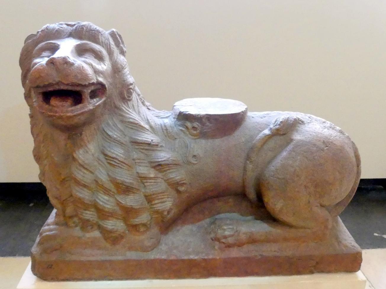 Portallöwe mit Säulenfuss, Um 1220 - 1230