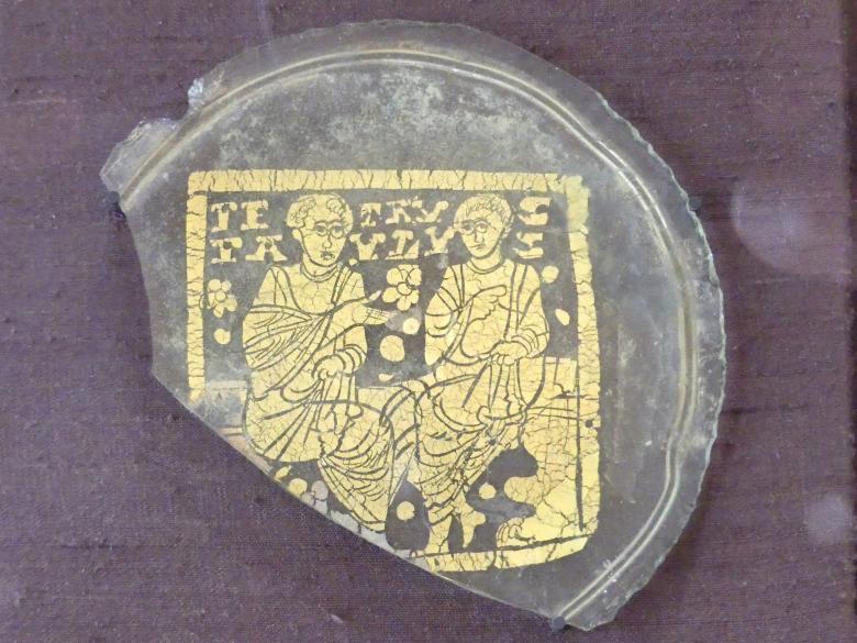 Goldglas mit den heiligen Petrus und Paulus, 2. Hälfte 4. Jhd.