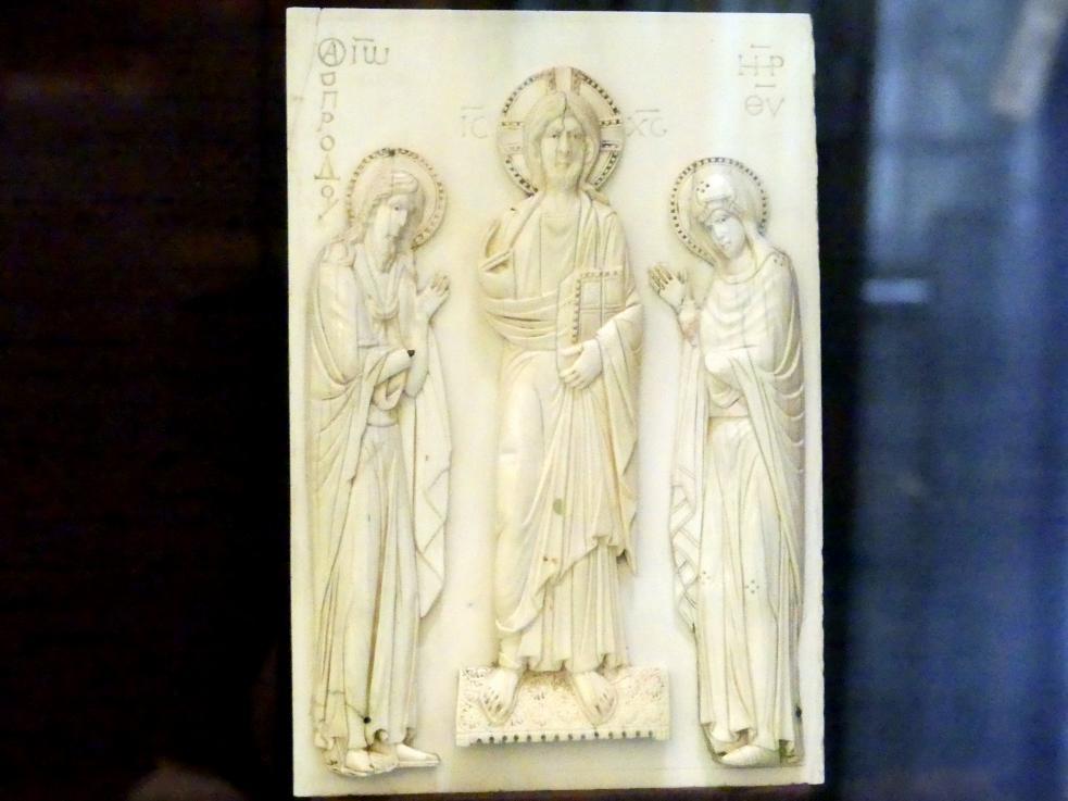 Christus zwischen Maria und Johannes dem Täufer, sog. Deesis, 10. Jhd.