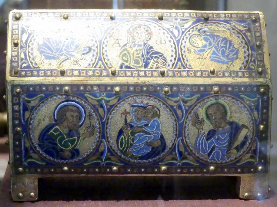 Schreinförmiges Reliquienkästchen, Um 1180